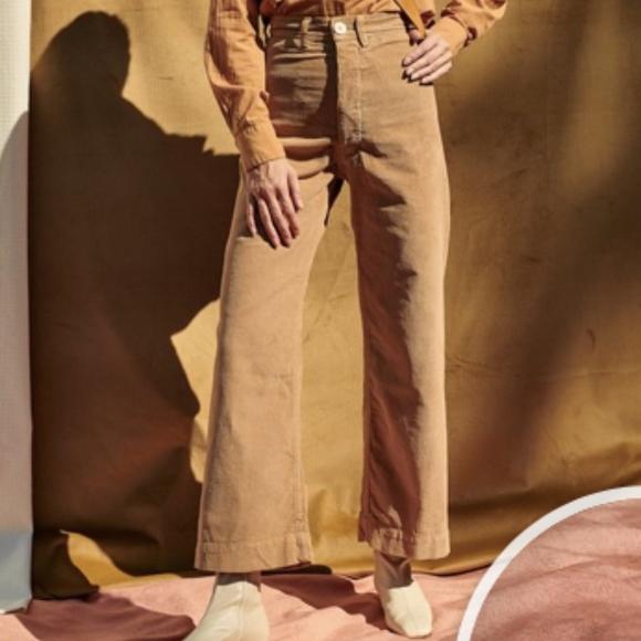 discount coupon luxury aesthetic rock-bottom price JESSE KAMM CORDUROY SAILOR PANTS - PALOMINO